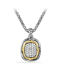 David Yurman | Metallic Labyrinth Small Pendant With Diamonds And Gold | Lyst