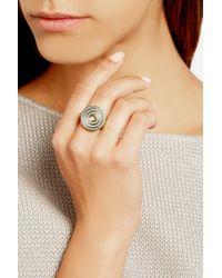 Noor Fares - Metallic Eternity Step 18-Karat Gray Gold Diamond Ring - Lyst