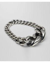 Bottega Veneta - Metallic Intreccio Svanito Silver Necklace - Lyst