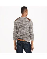 J.Crew Gray Italian Alpaca Shoulder-patch Sweater for men