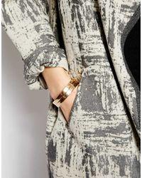 ASOS Metallic Multipack Hinge Bangle Bracelet
