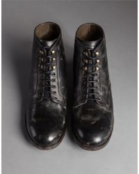 Dolce & Gabbana - Black Mould-effect Leather Siracusa Boots for Men - Lyst