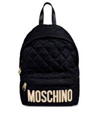 Moschino - Black Rucksack - Lyst