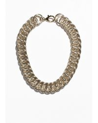 & Other Stories - Metallic Chunky Chain Necklace - Lyst