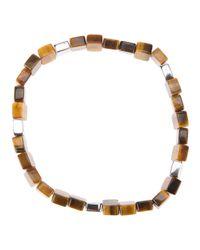 Tateossian Brown Tiger Stone Bracelet for men
