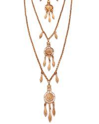 Ben-Amun - Metallic Dreamcatcher Layered Necklace - Gold - Lyst