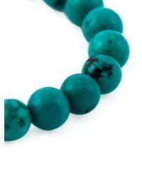 Leivan Kash - Green Beaded Feather Bracelet - Lyst