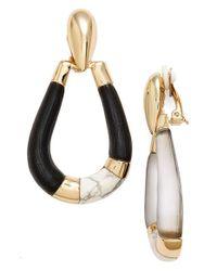 Alexis Bittar | Metallic 'lucite Metal' Clip Earrings | Lyst