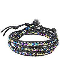 Aeravida | Multicolor Rainbow Muse Crystal Tribal Wrap Leather Bracelet | Lyst