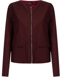 Andrea Marques Red Fitted Jacket