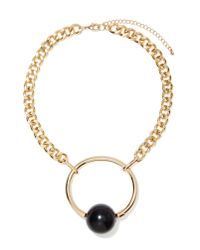 Nasty Gal | Metallic Ring My Ball Necklace | Lyst