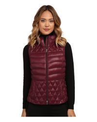 Lauren by Ralph Lauren | Purple Vest W/ Side Faux Leather Buckle | Lyst