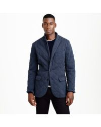 J.Crew - Blue Preorder Ludlow Fielding Sportcoat in Quilted Cotton for Men - Lyst