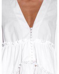 Balenciaga Multicolor Long-Sleeved Ruffled Blouse