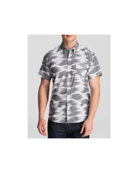 Saturdays NYC Black Esquina Cotton-Jacquard Shirt for men