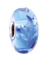 Trollbeads | Blue Engraved Poetic Fine Italian Glass Bead | Lyst