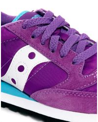 Saucony Jazz Original Purplewhite Trainers