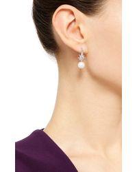 Venyx | Metallic 18k White Gold Star Pearl Earrings | Lyst
