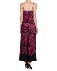 MICHAEL Michael Kors - Pink Printed Crepe Jumpsuit - Lyst