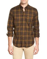 GANT | Brown 's.point Breeze Plaid Twill' Trim Fit Long Sleeve Sport Shirt for Men | Lyst