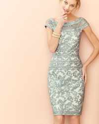 Tadashi Shoji | Blue Filigree Embroidered Lace Cocktail Dress | Lyst