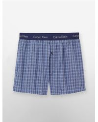 Calvin Klein | Blue Underwear Woven Slim Fit Boxers for Men | Lyst