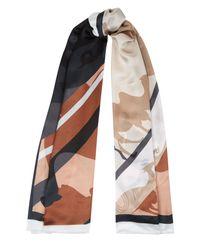 Jaeger - Multicolor Silk Multi Animal Scarf - Lyst