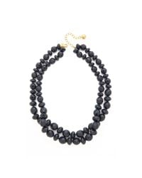 kate spade new york - Blue Give It A Swirl Twisted Necklace - French Navy - Lyst