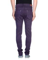 HTC Purple Denim Trousers for men