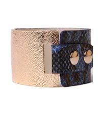 AKIRA Multicolor Thick Snakeband Bracelet