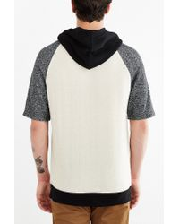 BDG | Gray Colorblock Short-sleeve Pullover Hoodie Sweatshirt for Men | Lyst