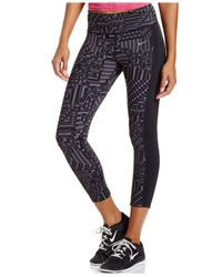 Nike Gray Epic Lux Print Cropped Leggings