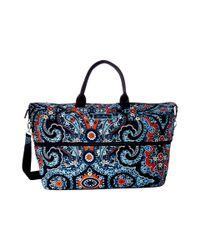 Vera Bradley Blue Lighten Up Expandable Travel Bag