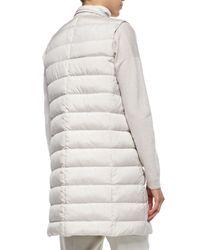 Brunello Cucinelli - White Silk Sleeveless Puffer Jacket - Lyst