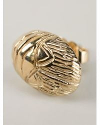 Aurelie Bidermann - Metallic Scarab Earrings - Lyst