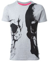 Philipp Plein | Gray 'bipolar' T-shirt for Men | Lyst
