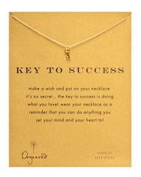Dogeared Metallic Goldtone Sterling Silver Key Necklace