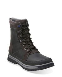 Clarks Black 'ripway Peak' Gore-tex Boot for men