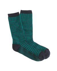 J.Crew Blue Houndstooth Trouser Socks