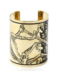 KTZ | Metallic La Mort Tarot Brass Cuff Bracelet | Lyst