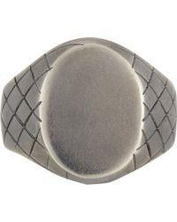 Bottega Veneta - Metallic Sterling Silver Chevalier Ring for Men - Lyst