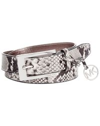 Michael Kors - Natural Michael Python Belt With Harness - Lyst