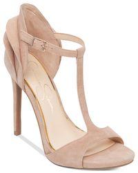 Jessica Simpson Pink Rayanna T-strap Petal Dress Sandals