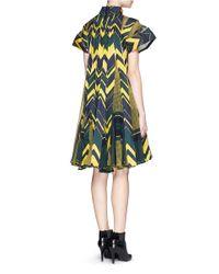 Sacai | Blue Woven Chevron-Print Dress | Lyst