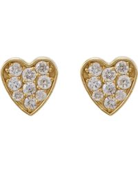 Jennifer Meyer Metallic Heart Studs