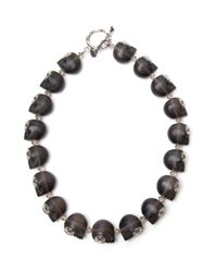 Shebee | Black Frosted Barbara Necklace | Lyst