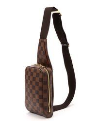 Louis Vuitton | Metallic Damier Ebene Geronimos Bag | Lyst