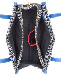 Tommy Hilfiger Blue H Group Monogram Jacquard Mini Convertible Shopper