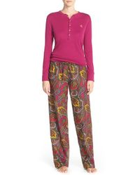 Lauren by Ralph Lauren | Purple Pajamas | Lyst