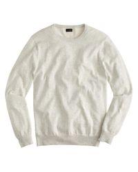 J.Crew - Natural Cotton-cashmere Crewneck Sweater for Men - Lyst